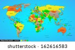 political map of the world ...   Shutterstock . vector #162616583