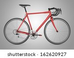 red sport bicycle isolated on... | Shutterstock . vector #162620927