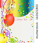 background with balloon and... | Shutterstock . vector #162621803