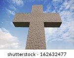 Big Stone Cross On Sky...