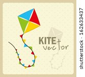 kite  design over dotted... | Shutterstock .eps vector #162633437