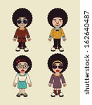 afro style design over beige...