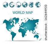 world map. vector illustration. | Shutterstock .eps vector #162644933