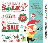 christmas sale design elements  | Shutterstock .eps vector #162646193