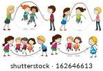 illustration of the children... | Shutterstock .eps vector #162646613