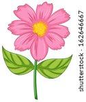 Illustration Of A Pink Flower...