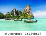 longtale boats at the beautiful ... | Shutterstock . vector #162648617
