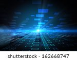 squares on futuristic background | Shutterstock . vector #162668747