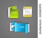 abstract vector banners set  | Shutterstock .eps vector #162682493