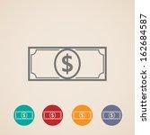 vector money icons | Shutterstock .eps vector #162684587