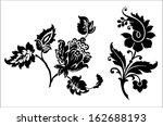 vintage flowers. vector... | Shutterstock .eps vector #162688193