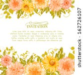 Invitation Card With Flowers....