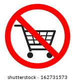 no shopping carts icon   sign | Shutterstock .eps vector #162731573