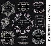 vector set  calligraphic design ... | Shutterstock .eps vector #162754973