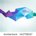 vector geometric shape, abstract colorful futuristic background | Shutterstock vector #162758267