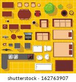 vector objects for house plan | Shutterstock .eps vector #162763907