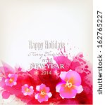 pink background with flowers.... | Shutterstock .eps vector #162765227