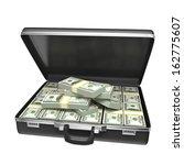 Black Case With Money  ...