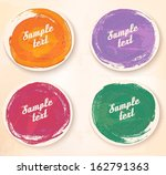 colorful sticker icons. vector. | Shutterstock .eps vector #162791363