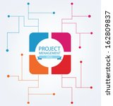 business concept. project... | Shutterstock .eps vector #162809837