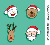 christmas happy characters | Shutterstock . vector #162809903