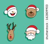 christmas happy characters | Shutterstock . vector #162809903