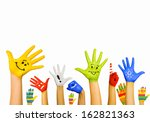 image of human hands in... | Shutterstock . vector #162821363