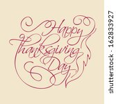 stylish text of happy... | Shutterstock .eps vector #162833927
