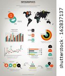 infographics set. world map and ... | Shutterstock .eps vector #162837137
