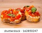 fresh homemade crispy italian... | Shutterstock . vector #162850247