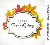 happy thanksgiving day concept...   Shutterstock .eps vector #162850427
