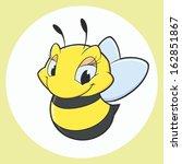 vector illustration of cartoon... | Shutterstock .eps vector #162851867