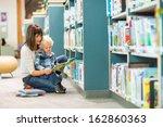 full length of teacher and boy... | Shutterstock . vector #162860363
