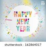 happy new year celebration... | Shutterstock .eps vector #162864017
