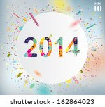 happy new year celebration... | Shutterstock .eps vector #162864023