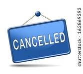 cancelled music concert gig or... | Shutterstock . vector #162869393