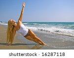 lovely blond female model...   Shutterstock . vector #16287118