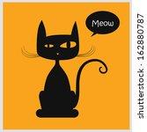 Stock vector vector illustration of cat 162880787