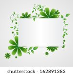 flowers on a paper background   Shutterstock .eps vector #162891383