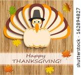 happy thanksgiving turkey  | Shutterstock .eps vector #162894827