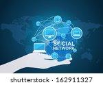 social network vector  | Shutterstock .eps vector #162911327