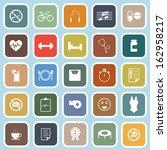 wellness flat icons on blue... | Shutterstock .eps vector #162958217