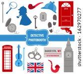 detective sherlock party set  ... | Shutterstock .eps vector #162970277