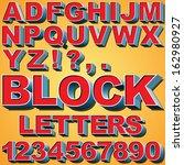 an alphabet set of 3d block... | Shutterstock .eps vector #162980927