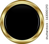 Black Gold Button. Abstract...
