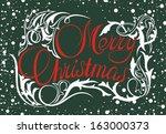 christmas background | Shutterstock .eps vector #163000373