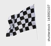 Finish Flag For Racing Car...