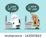 cartoon cute business man with... | Shutterstock .eps vector #163005863