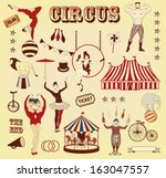 Pattern of the circus - stock vector