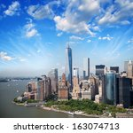 Lower Manhattan Skyline And...
